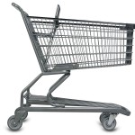 Wire Shopping Cart 160L side view_large